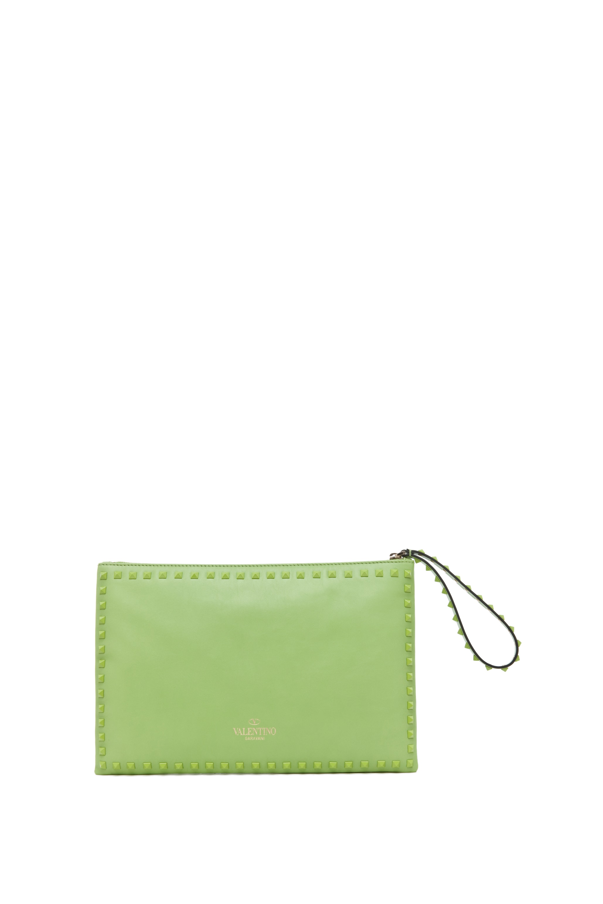 Image 2 of Valentino Rockstud Small Clutch in Pop Apple