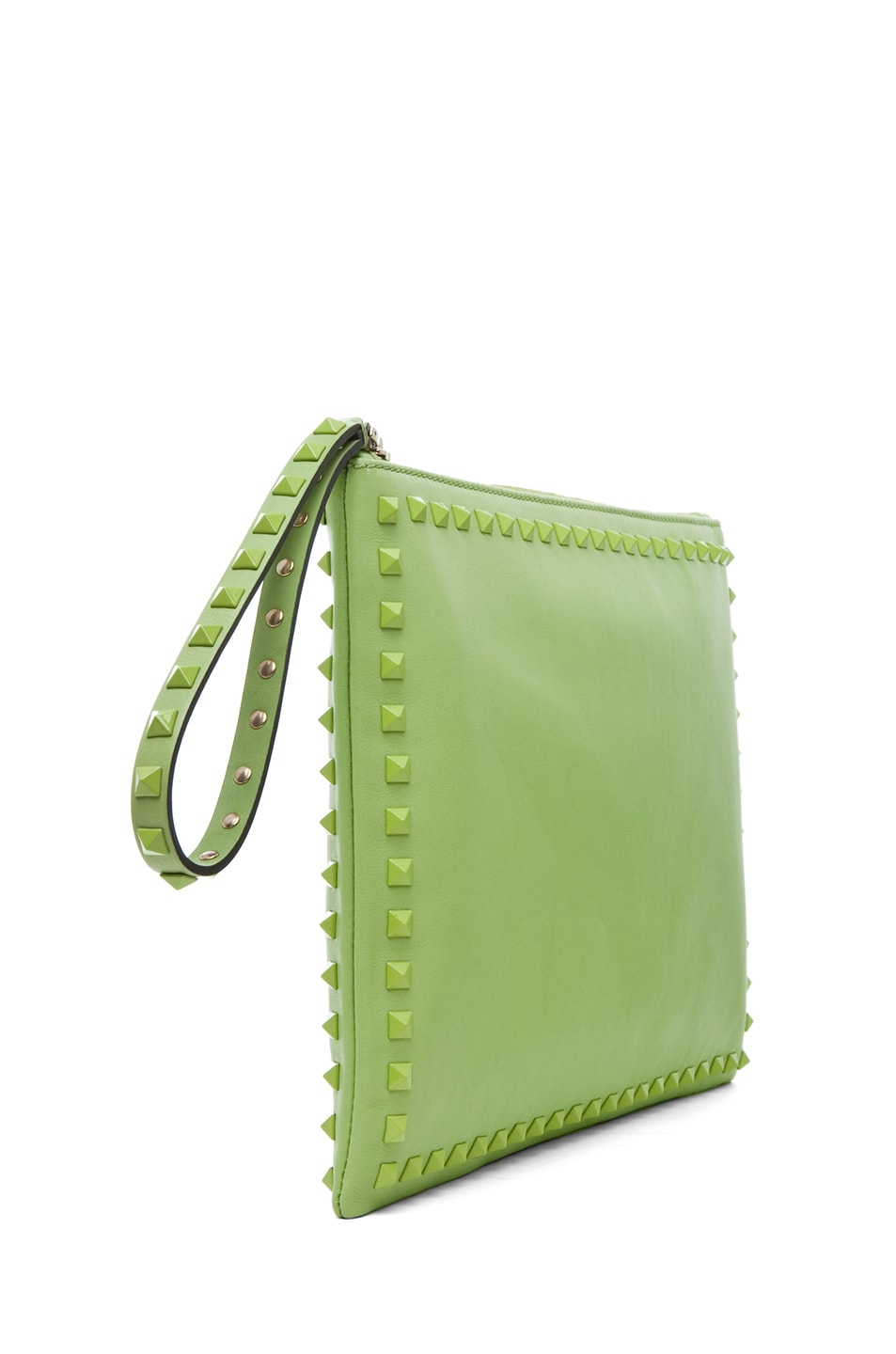 Image 3 of Valentino Rockstud Small Clutch in Pop Apple