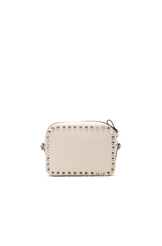 Image 2 of Valentino Rockstud Crossbody Bag in Light Ivory