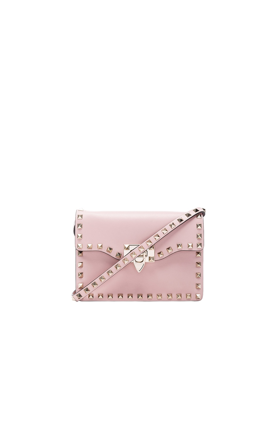 Image 1 of Valentino Rockstud Shoulder Bag in Water Rose
