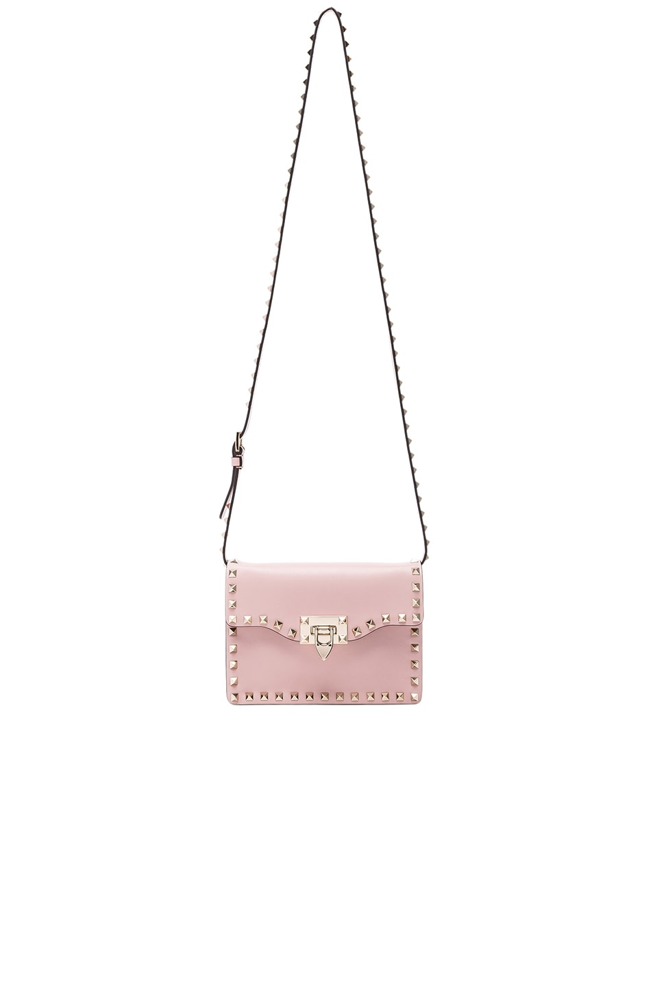 Image 5 of Valentino Rockstud Shoulder Bag in Water Rose