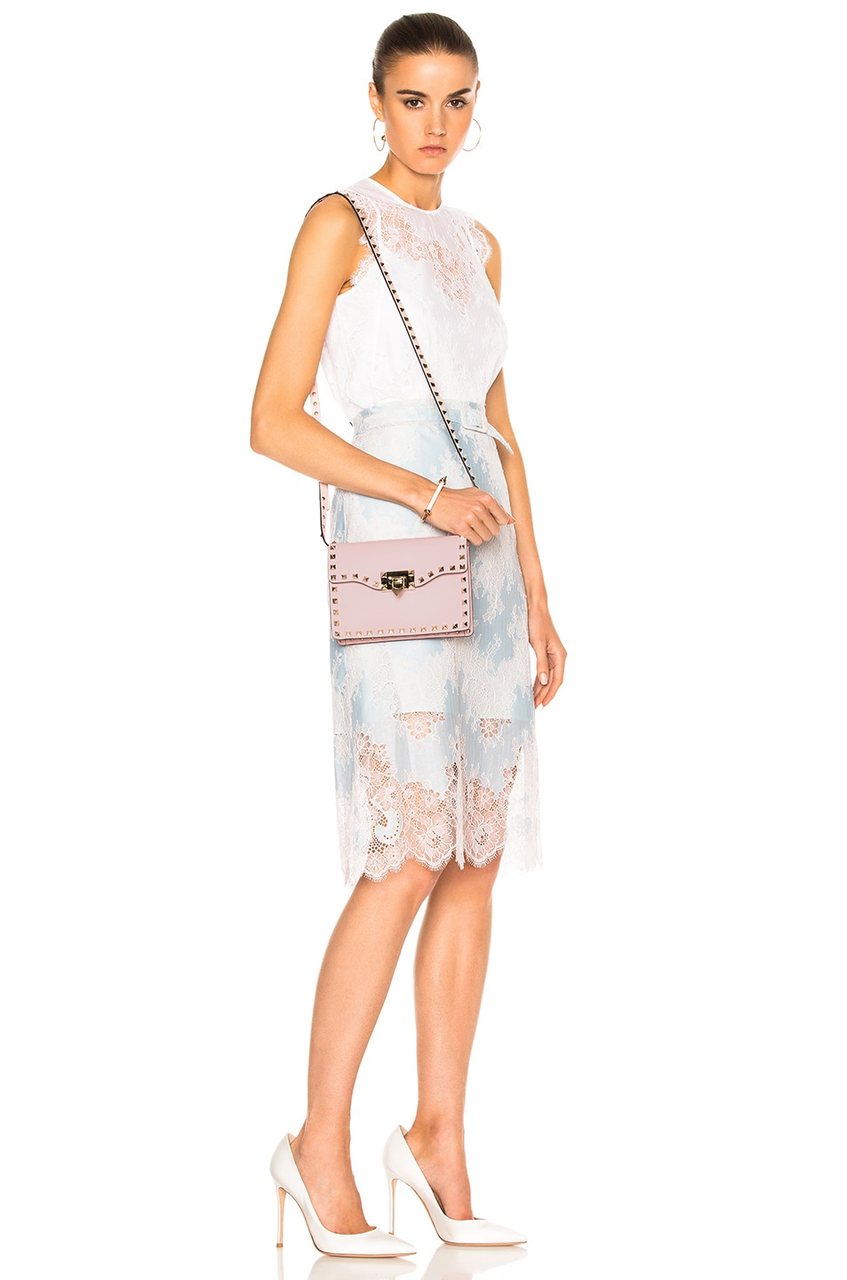 Image 6 of Valentino Rockstud Shoulder Bag in Water Rose