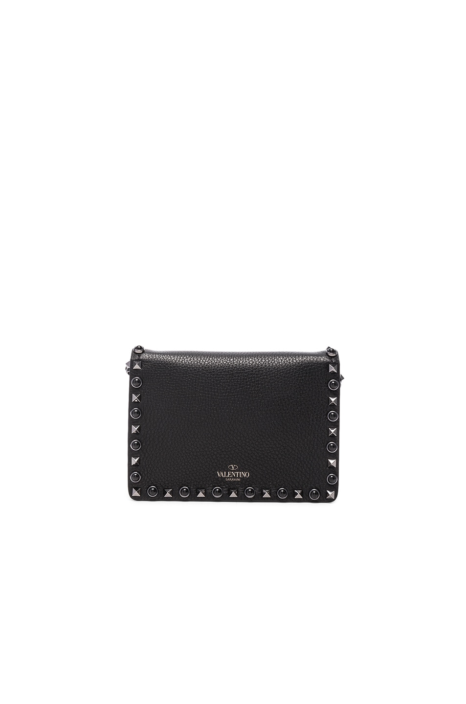 Image 2 of Valentino Rockstud Shoulder Bag in Black