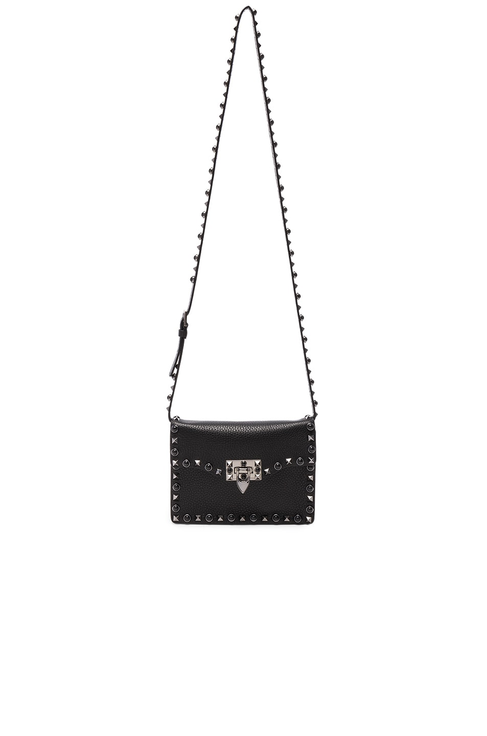 Image 5 of Valentino Rockstud Shoulder Bag in Black