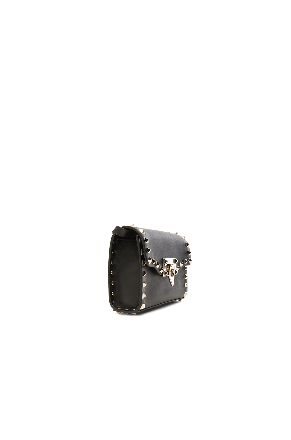 Image 3 of Valentino Small Rockstud Shoulder Bag in Black