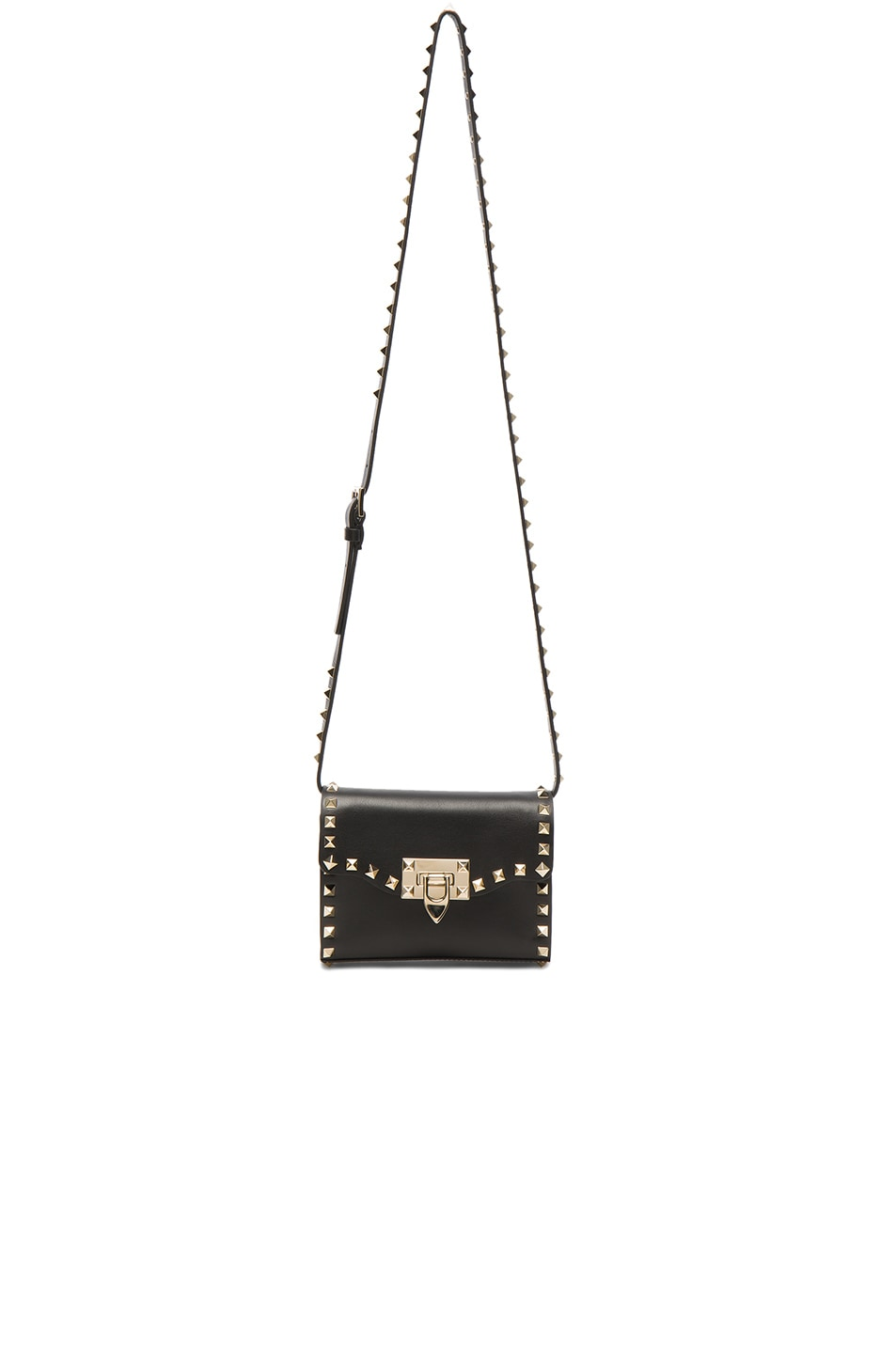 Image 5 of Valentino Small Rockstud Shoulder Bag in Black