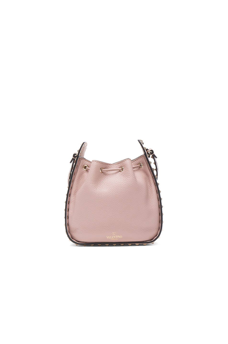 Image 2 of Valentino Rockstud Bucket Bag in Poudre