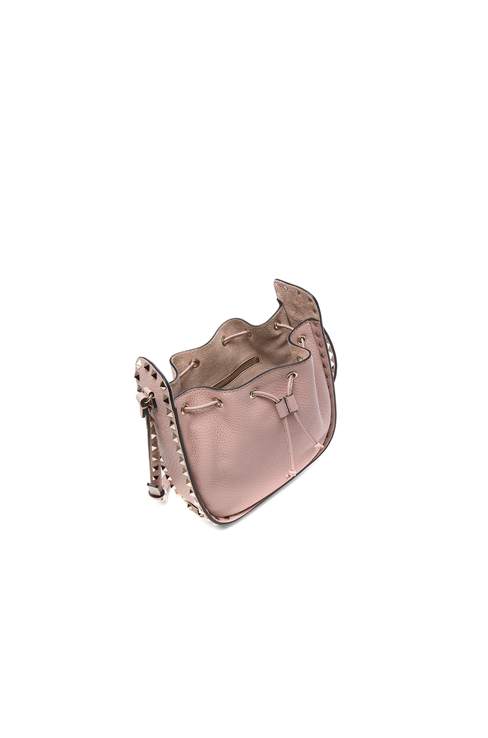 Image 4 of Valentino Rockstud Bucket Bag in Poudre