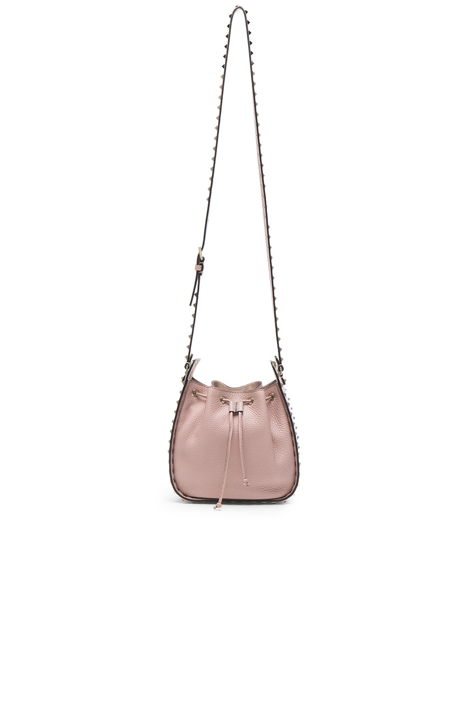 Image 5 of Valentino Rockstud Bucket Bag in Poudre