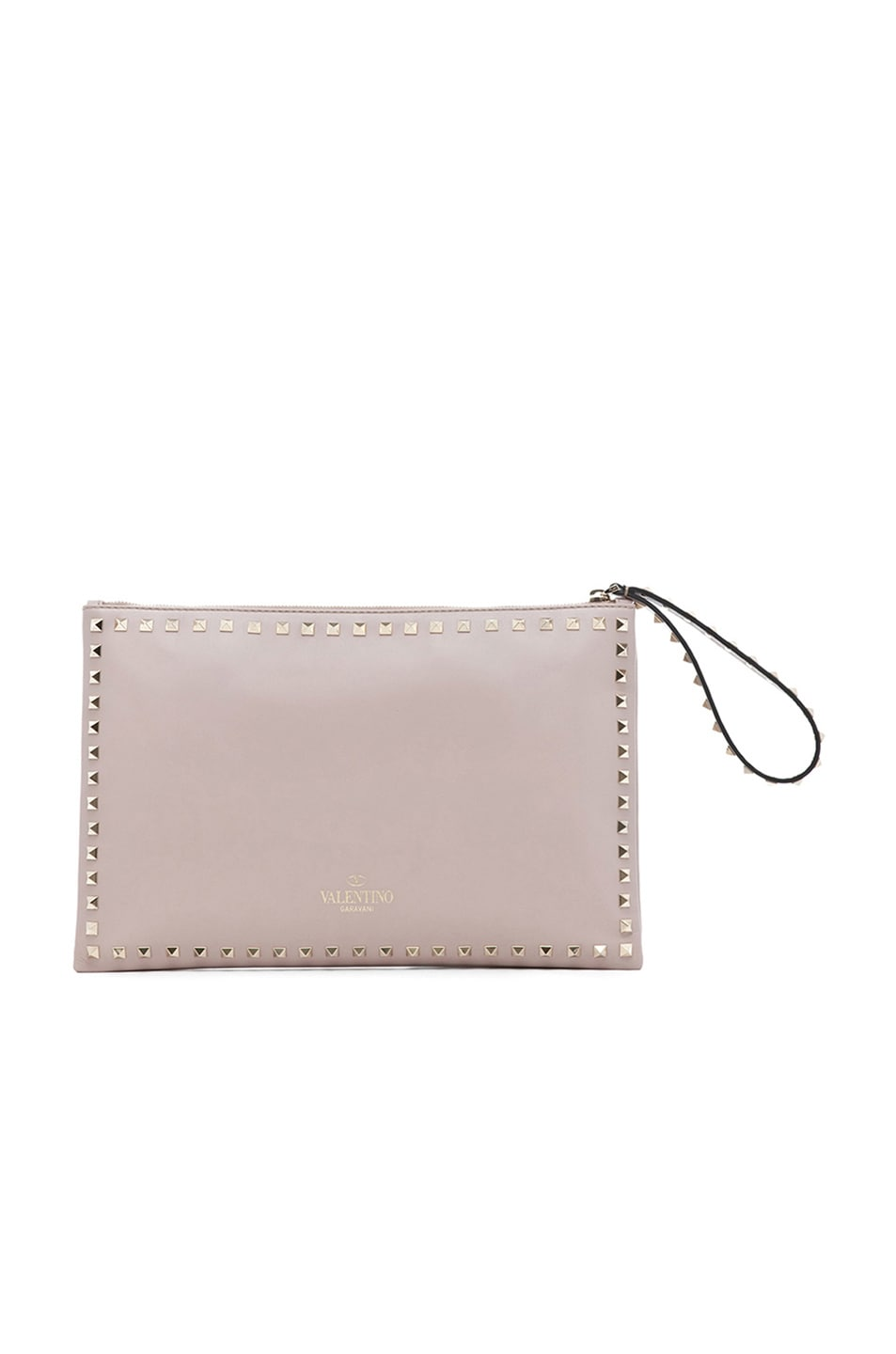 Image 3 of Valentino Small Rockstud Clutch in Powder