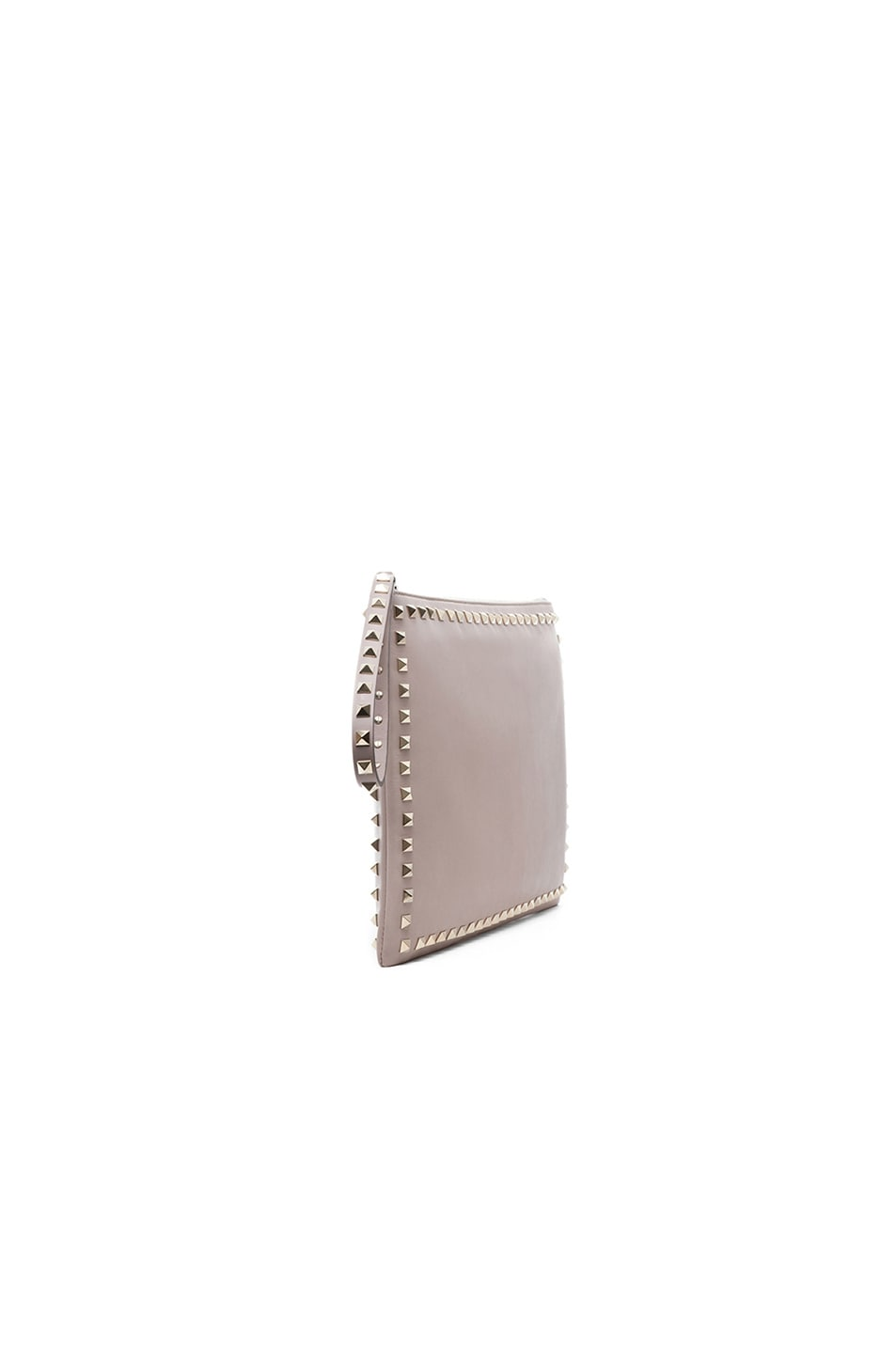 Image 4 of Valentino Small Rockstud Clutch in Powder