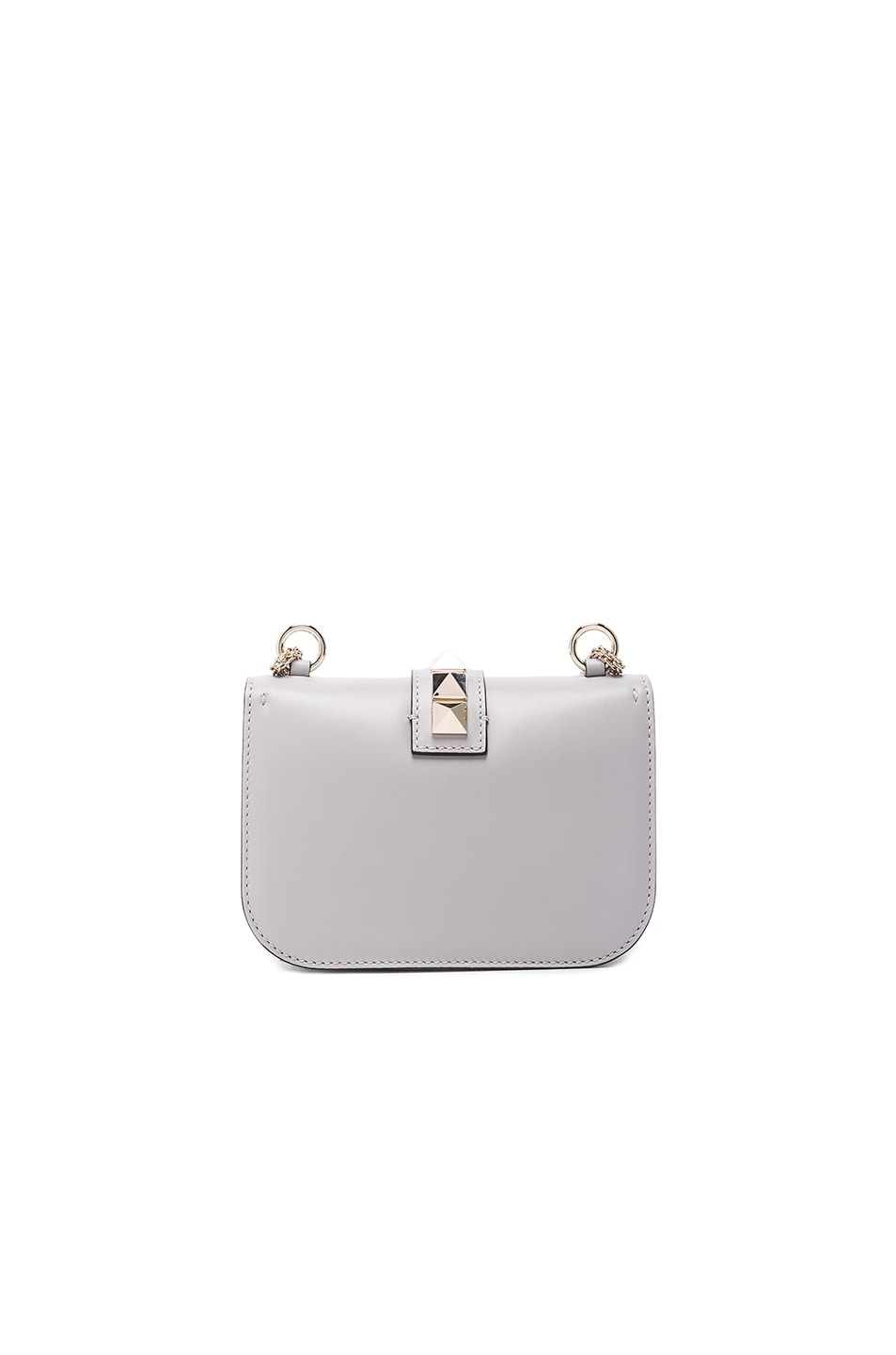 Image 2 of Valentino Small Lock Shoulder Bag in Pastel Grey