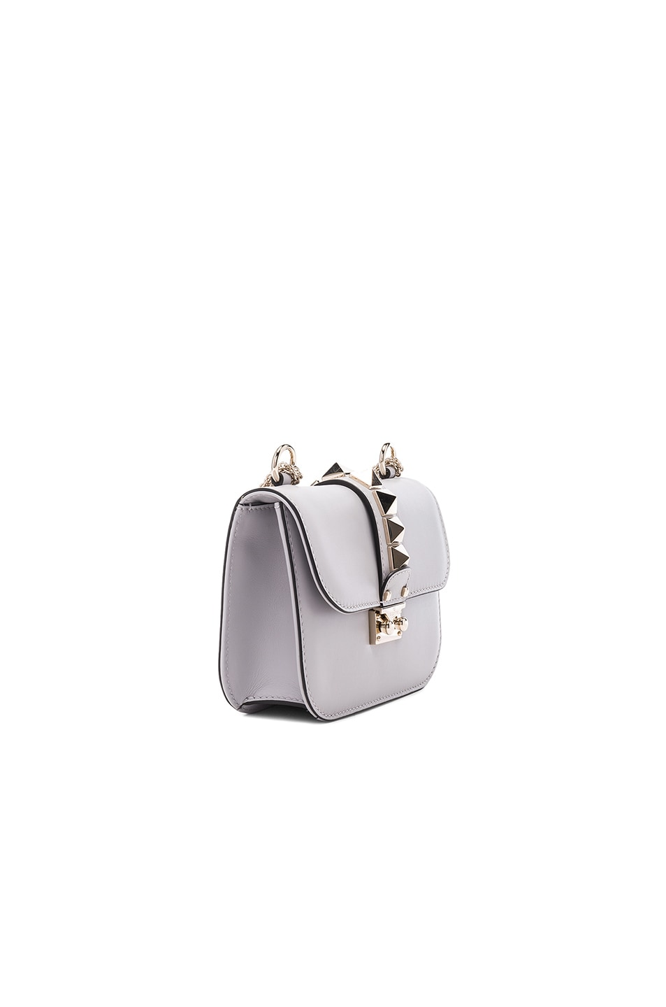 Image 3 of Valentino Small Lock Shoulder Bag in Pastel Grey