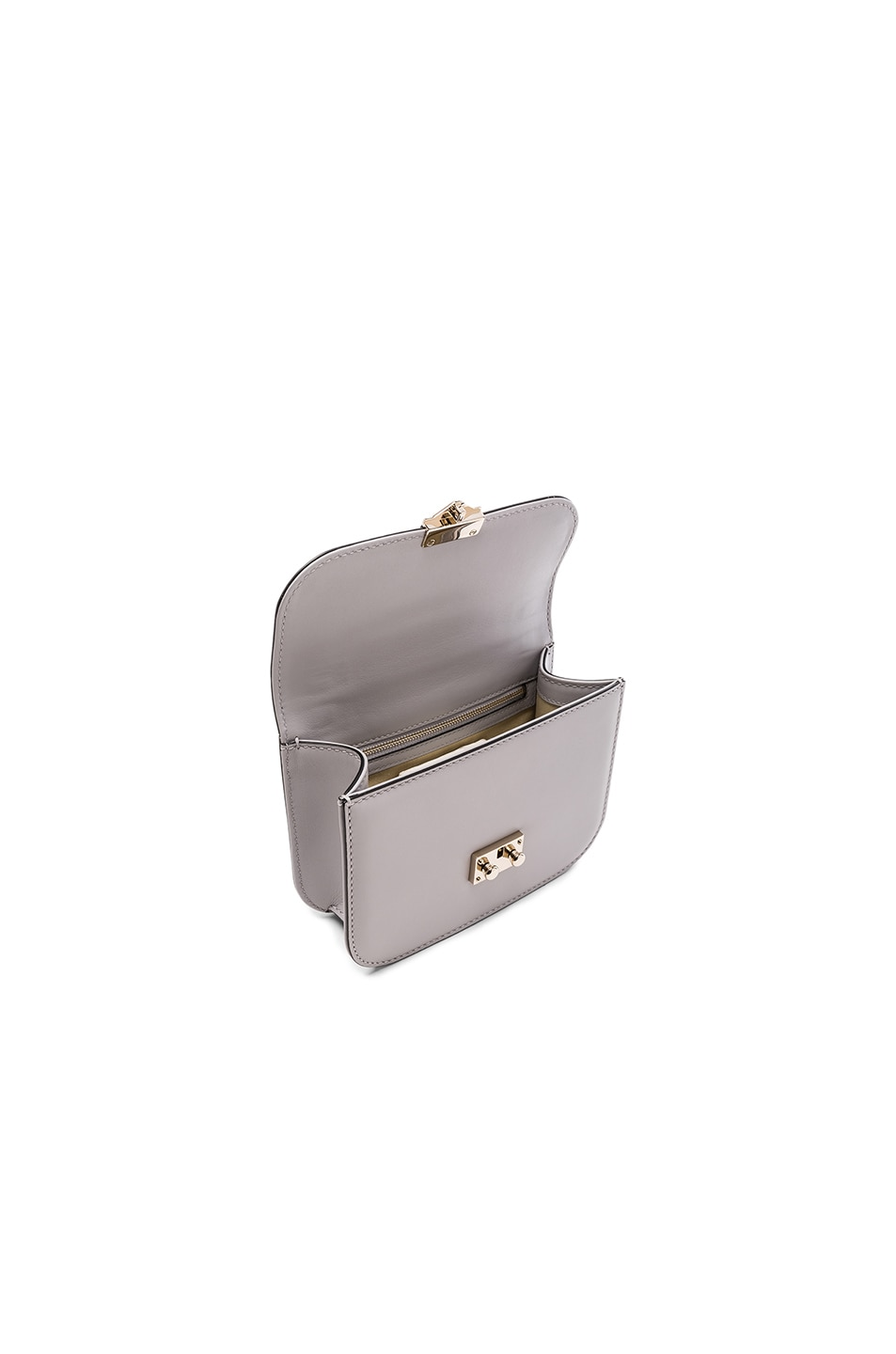 Image 4 of Valentino Small Lock Shoulder Bag in Pastel Grey