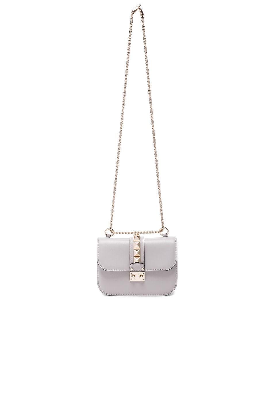 Image 5 of Valentino Small Lock Shoulder Bag in Pastel Grey