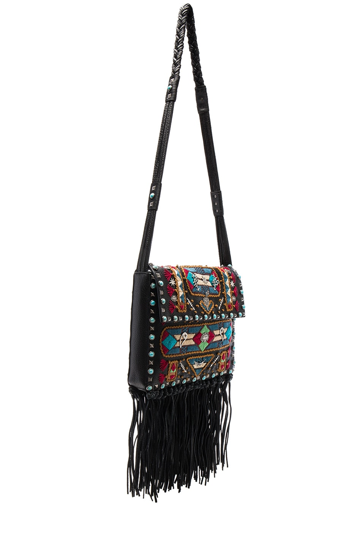 Image 3 of Valentino Santeria Fringe Shoulder Bag in Multi