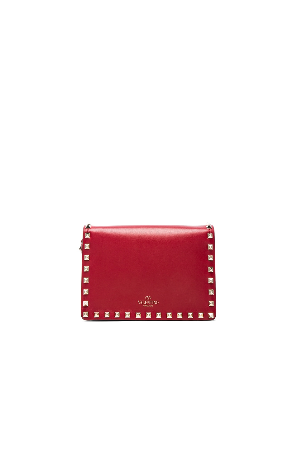 Image 2 of Valentino Small Rockstud Shoulder Bag in Red