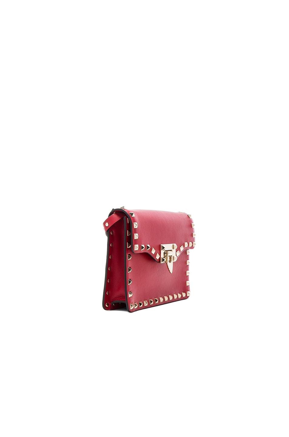Image 3 of Valentino Small Rockstud Shoulder Bag in Red