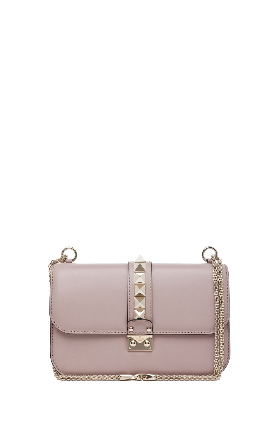 Image 1 of Valentino Medium Lock Flap Bag in Poudre