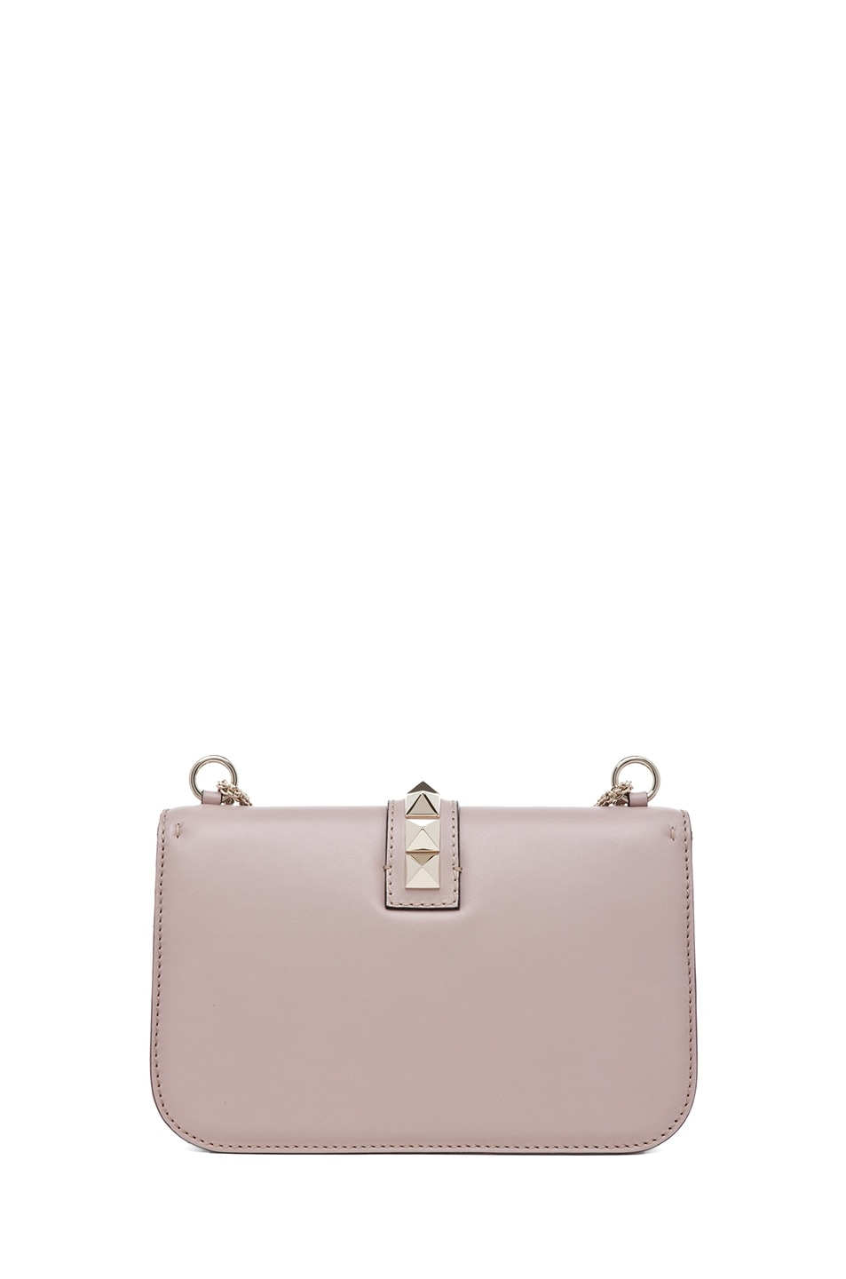 Image 2 of Valentino Medium Lock Flap Bag in Poudre
