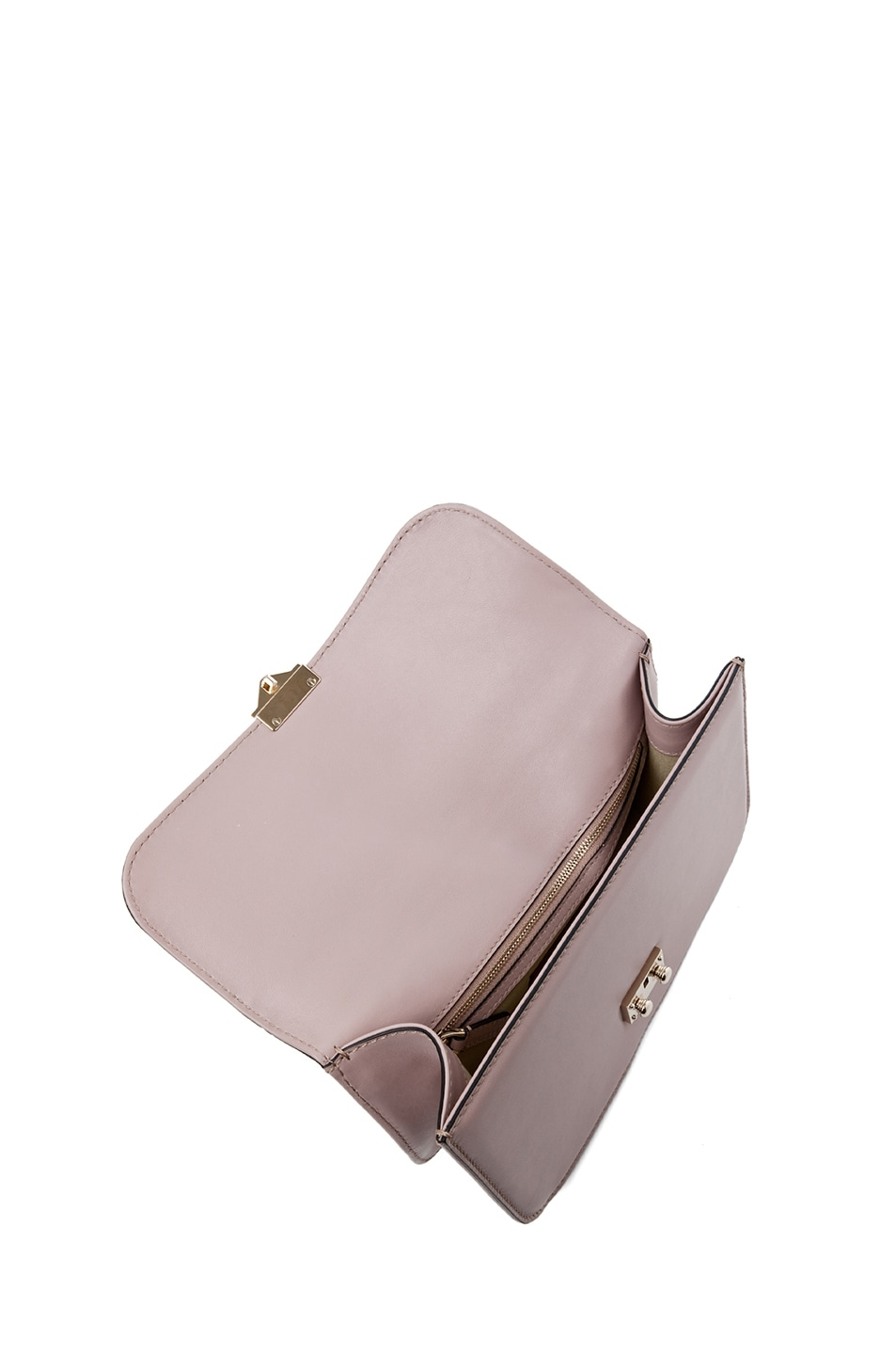 Image 4 of Valentino Medium Lock Flap Bag in Poudre