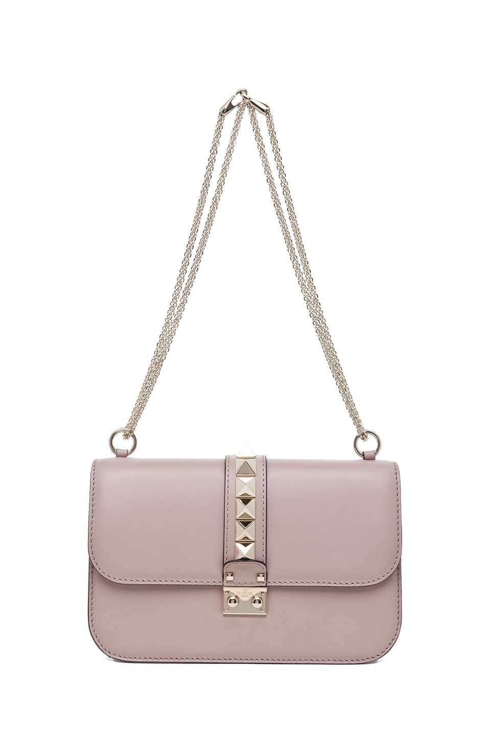 Image 5 of Valentino Medium Lock Flap Bag in Poudre