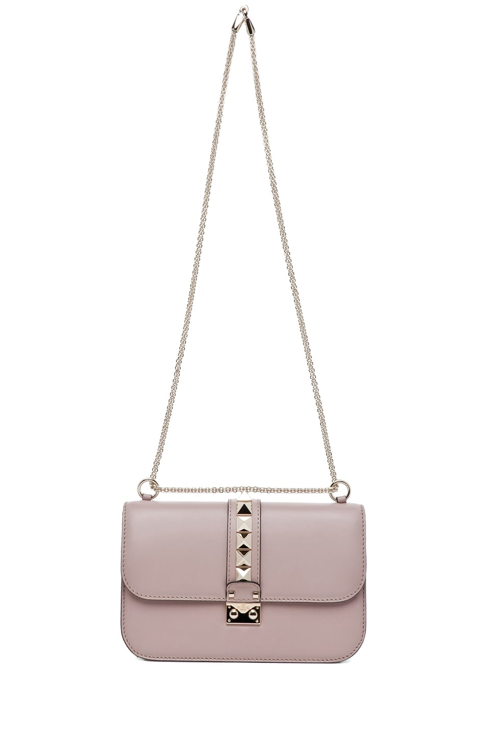 Image 6 of Valentino Medium Lock Flap Bag in Poudre