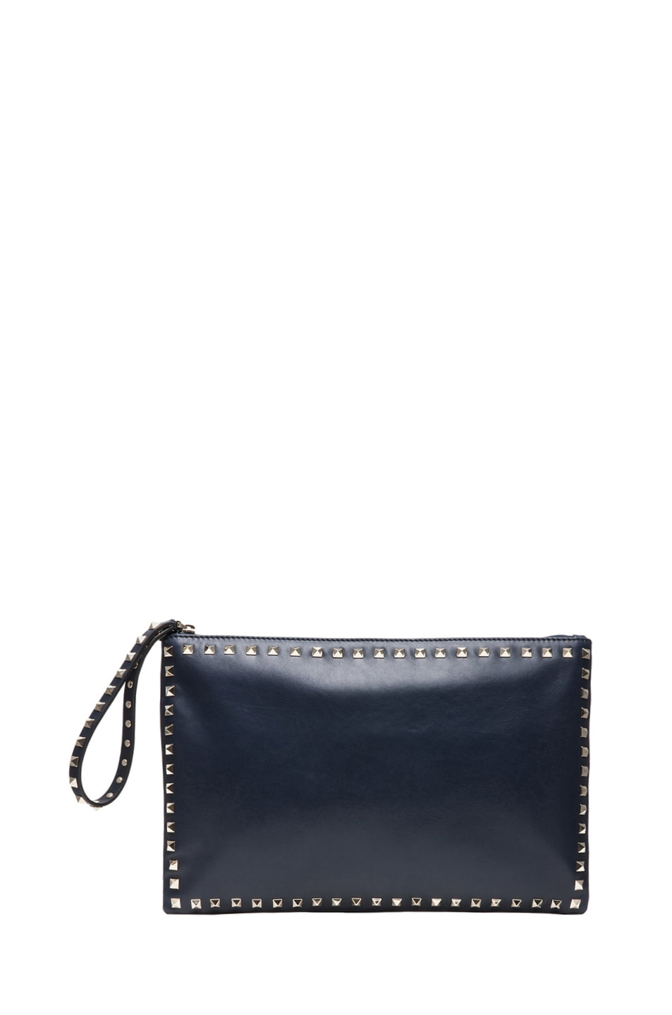 Image 1 of Valentino Small Rockstud Clutch in Marine