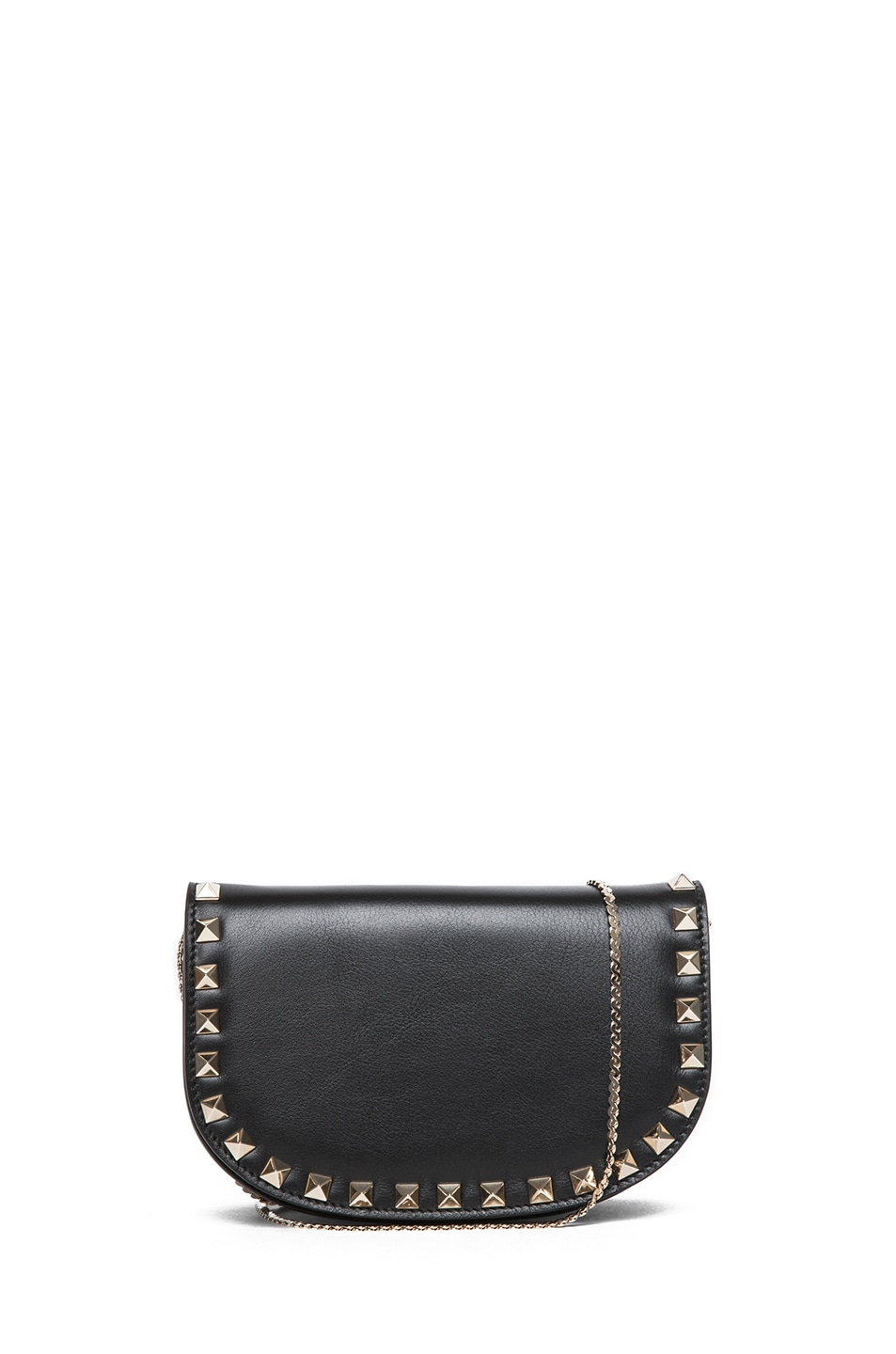 Image 1 of Valentino Mini Round Rockstud Shoulder Bag in Black