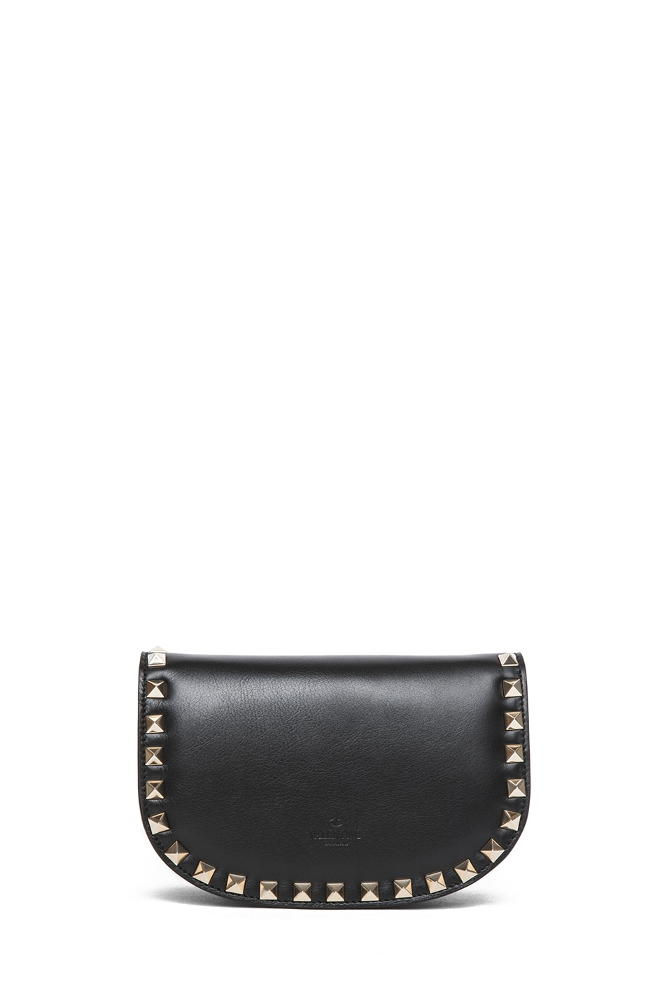 Image 2 of Valentino Mini Round Rockstud Shoulder Bag in Black