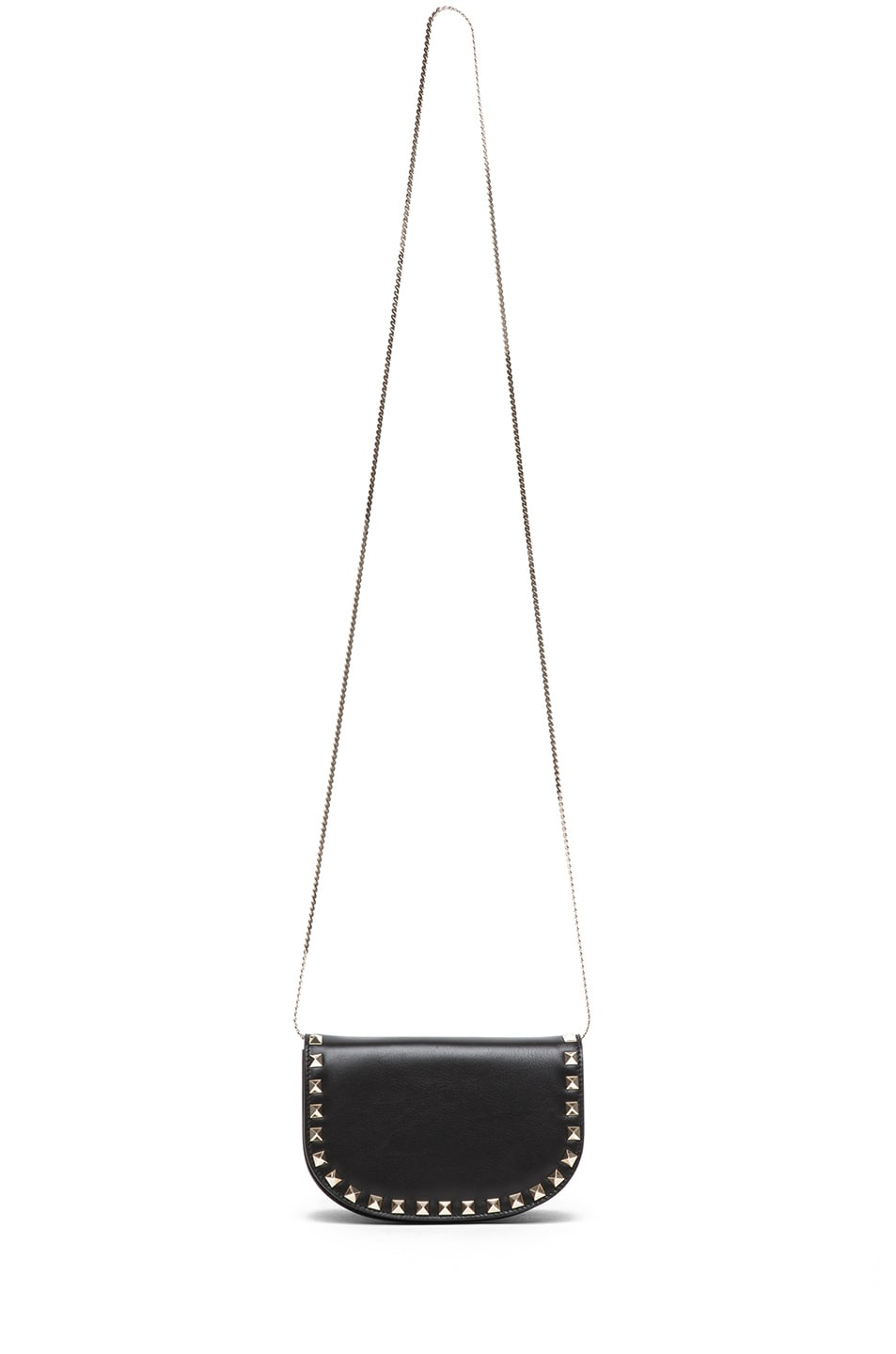 Image 5 of Valentino Mini Round Rockstud Shoulder Bag in Black