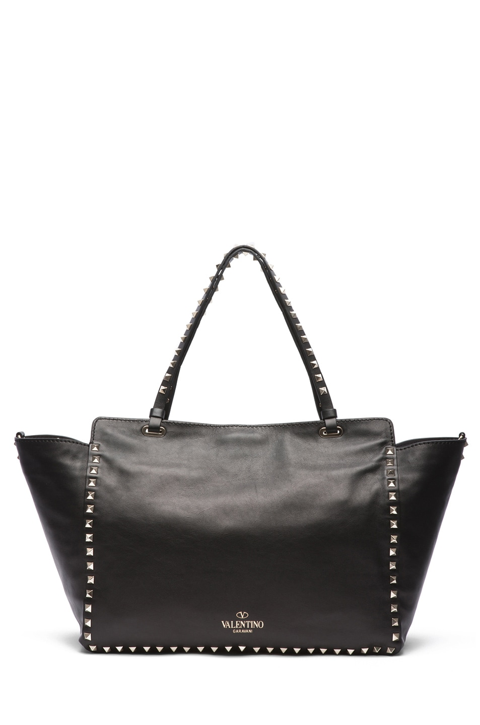 Image 2 of Valentino Medium Rockstud Trapeze Tote in Black