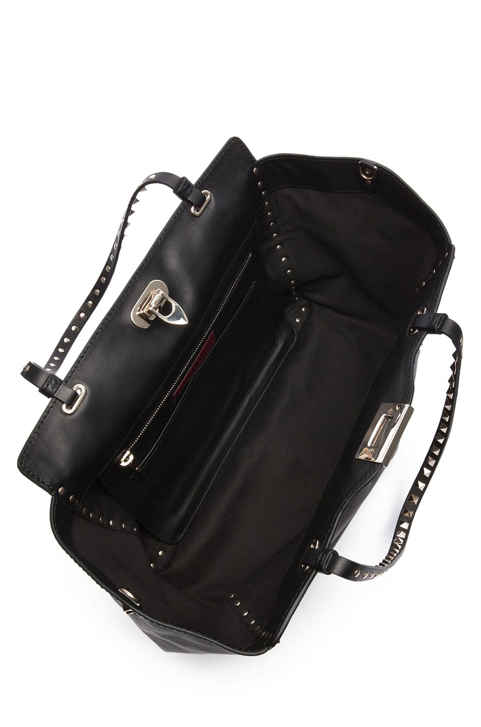Image 4 of Valentino Medium Rockstud Trapeze Tote in Black