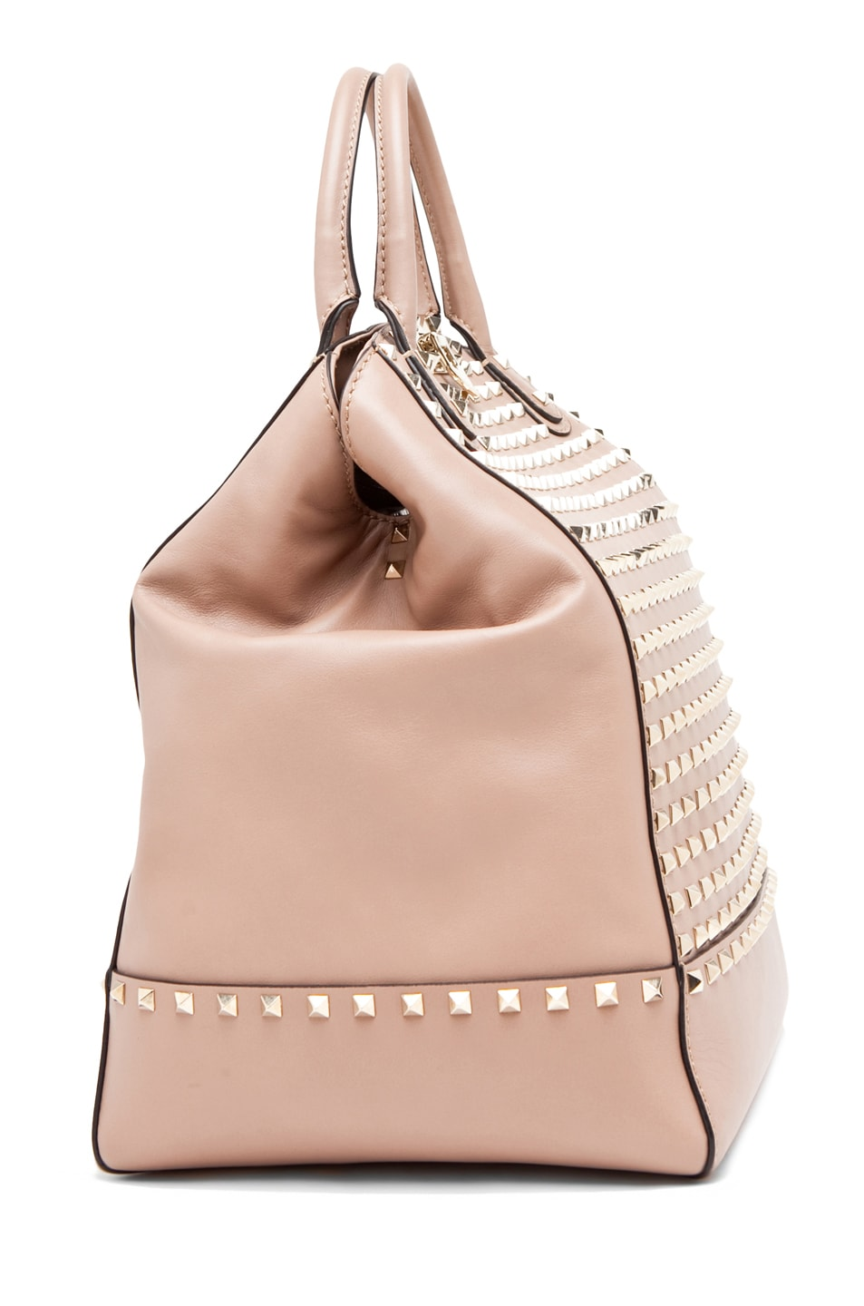 Image 3 of Valentino Rockstud Double Handbag in Cognac