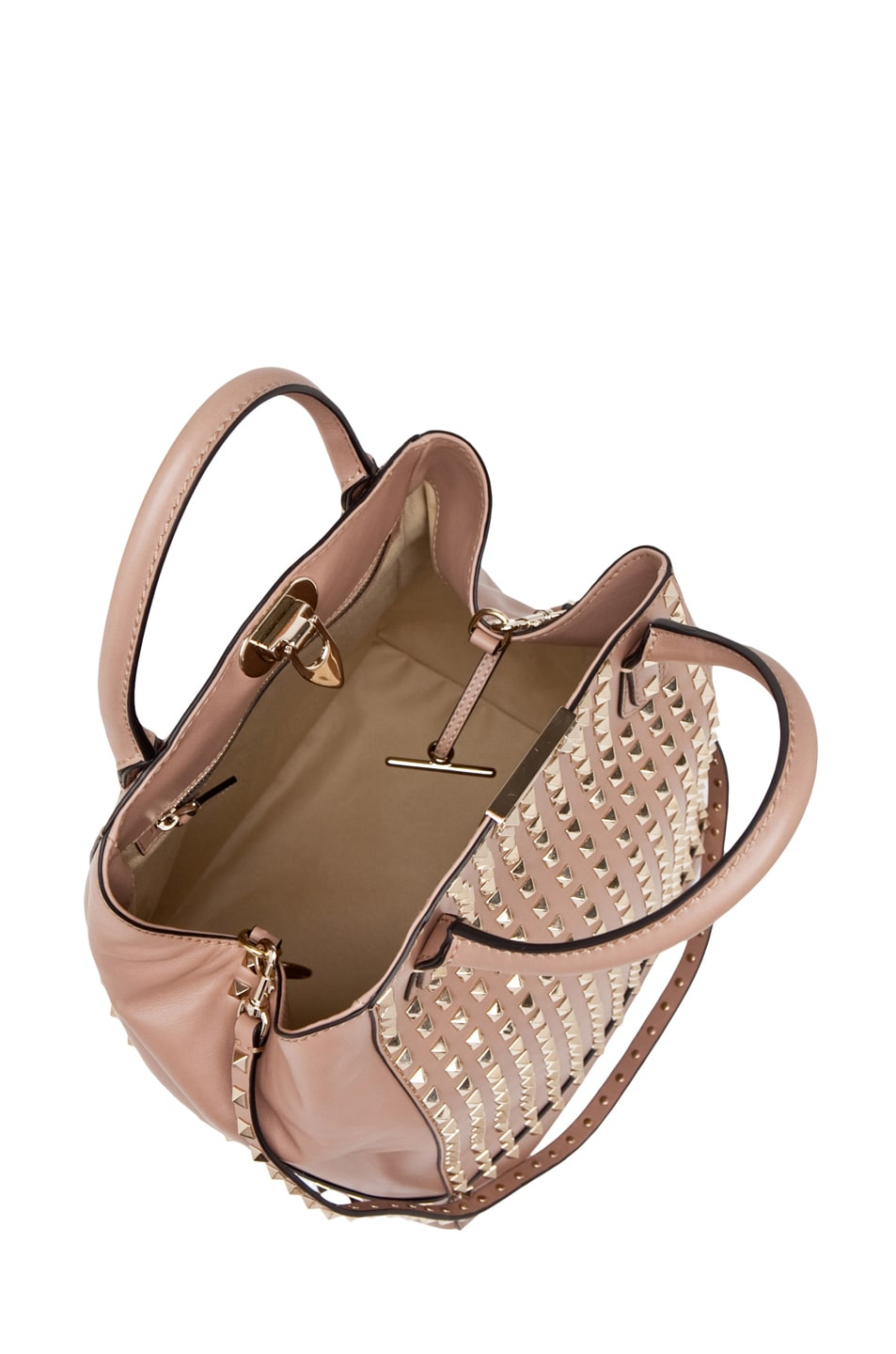 Image 4 of Valentino Rockstud Double Handbag in Cognac