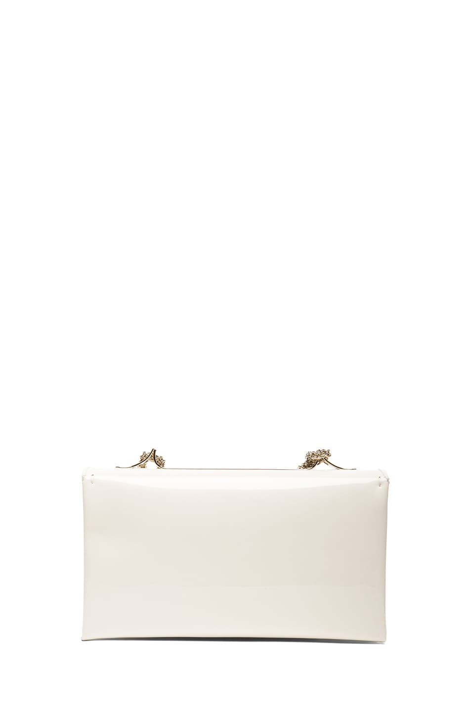 Image 2 of Valentino Medium Punkouture Flap Bag Patent in Light Ivory