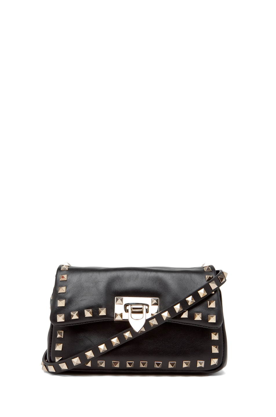 Image 1 of Valentino Rockstud Flap Bag in Black