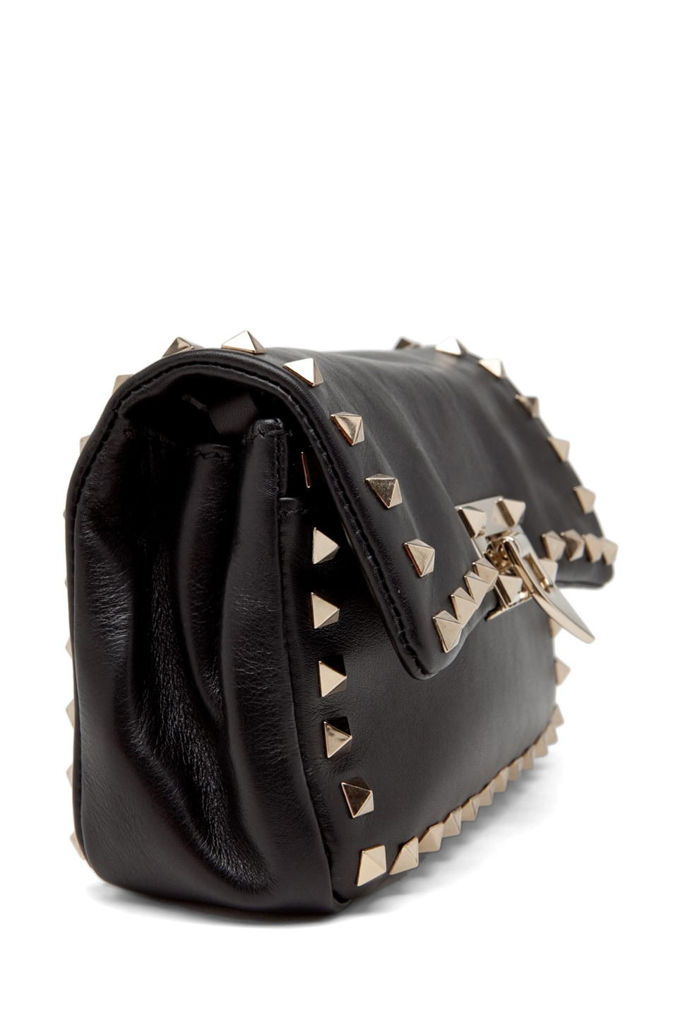 Image 3 of Valentino Rockstud Flap Bag in Black