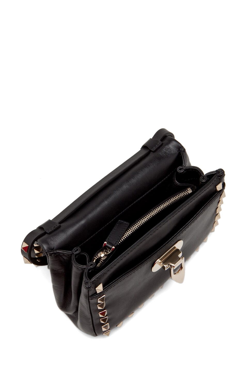 Image 4 of Valentino Rockstud Flap Bag in Black