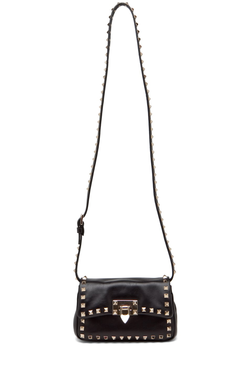 Image 5 of Valentino Rockstud Flap Bag in Black