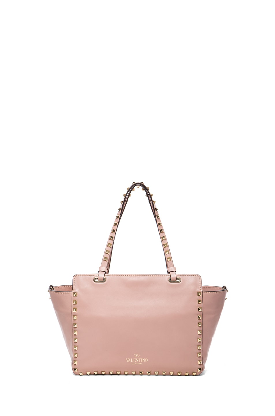 Image 2 of Valentino Mini Rockstud Trapeze Tote in Waxy Rose