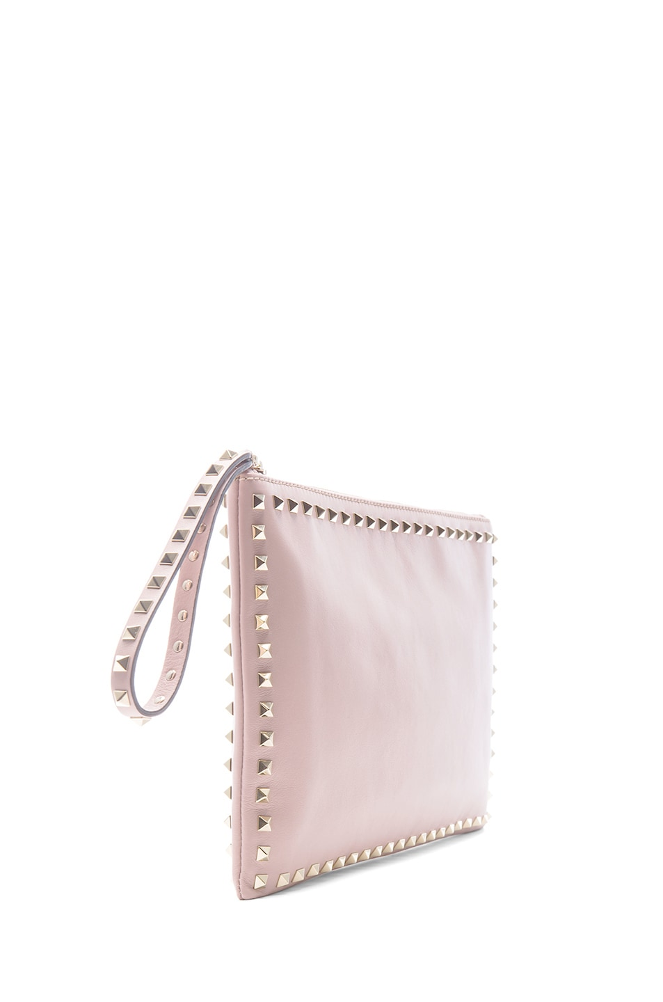 Image 3 of Valentino Small Rockstud Clutch in Waxy Rose