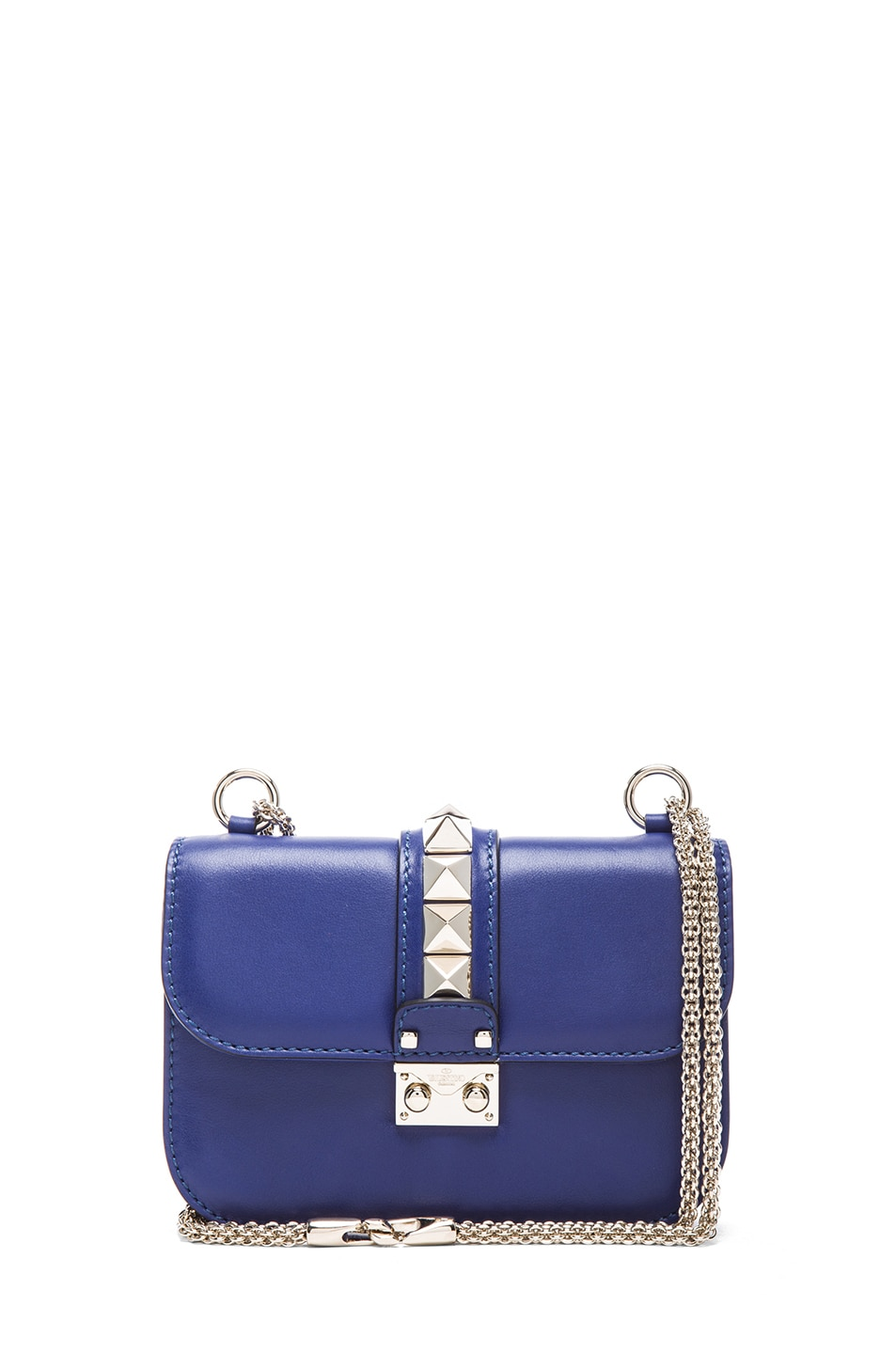 Image 1 of Valentino Small Lock Flap Bag in Blue China