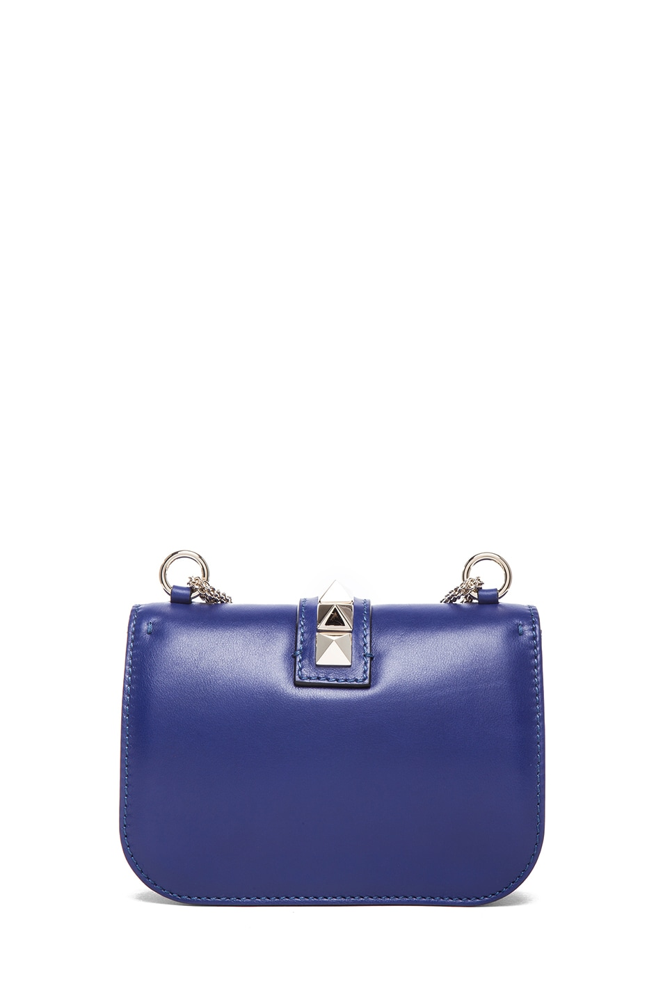 Image 2 of Valentino Small Lock Flap Bag in Blue China