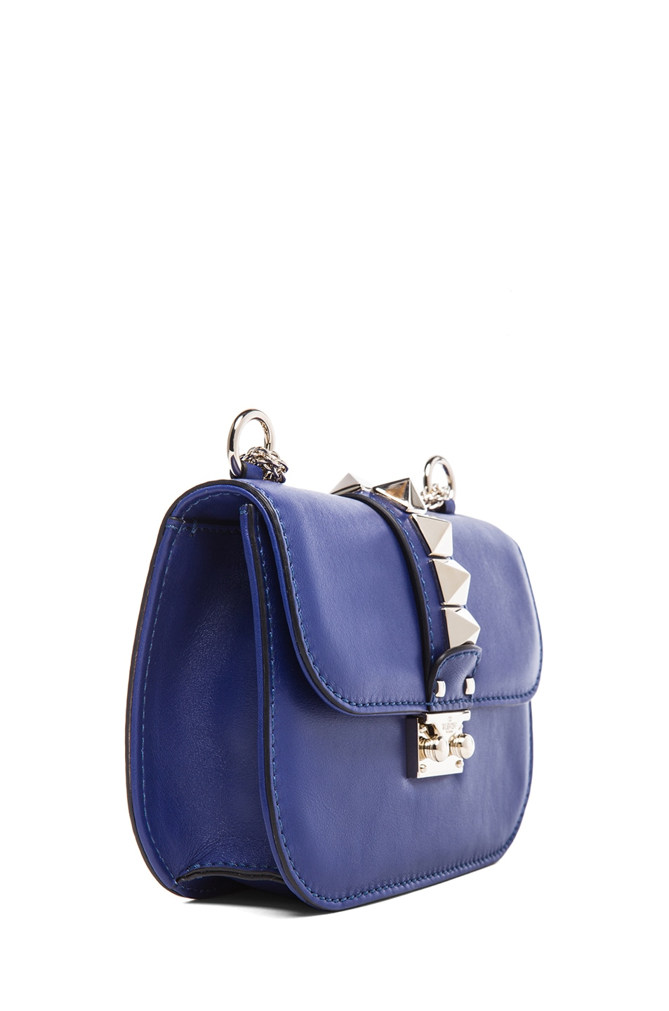 Image 3 of Valentino Small Lock Flap Bag in Blue China