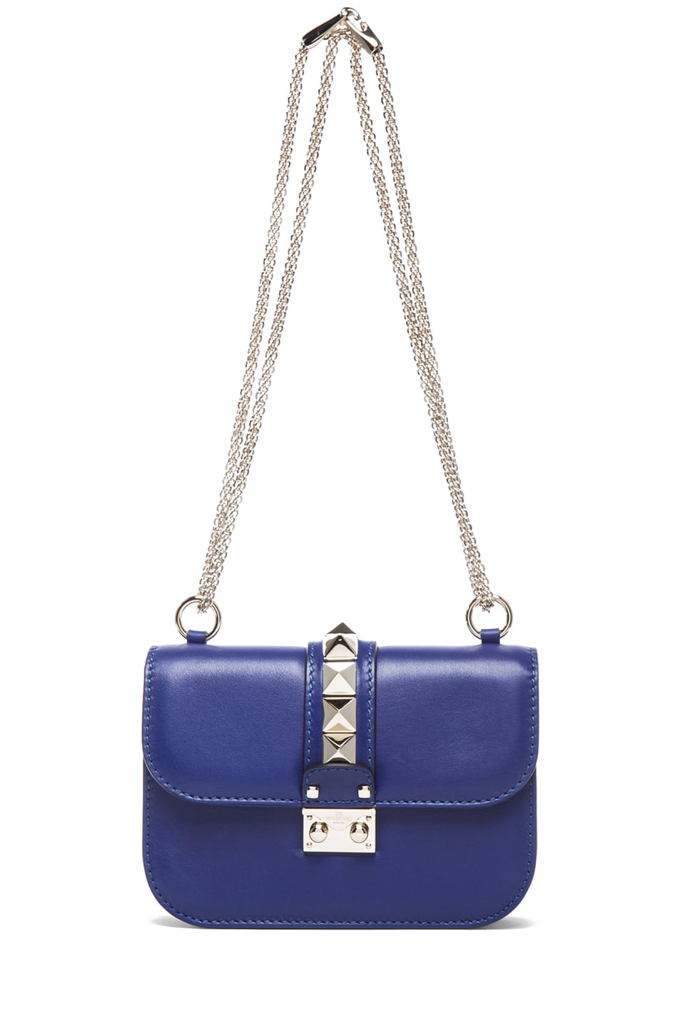 Image 5 of Valentino Small Lock Flap Bag in Blue China
