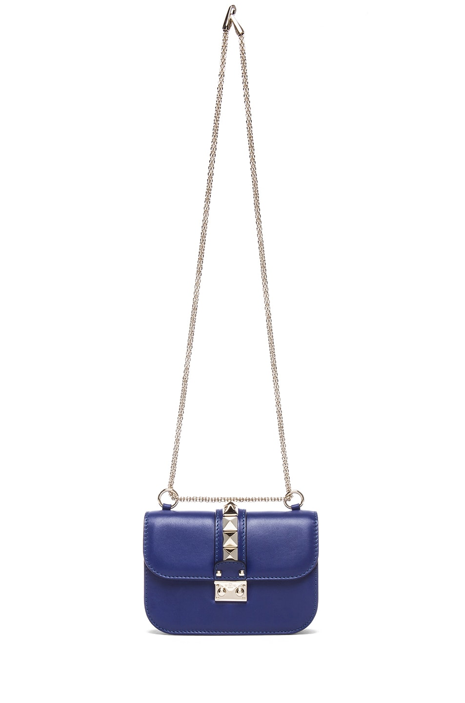 Image 6 of Valentino Small Lock Flap Bag in Blue China
