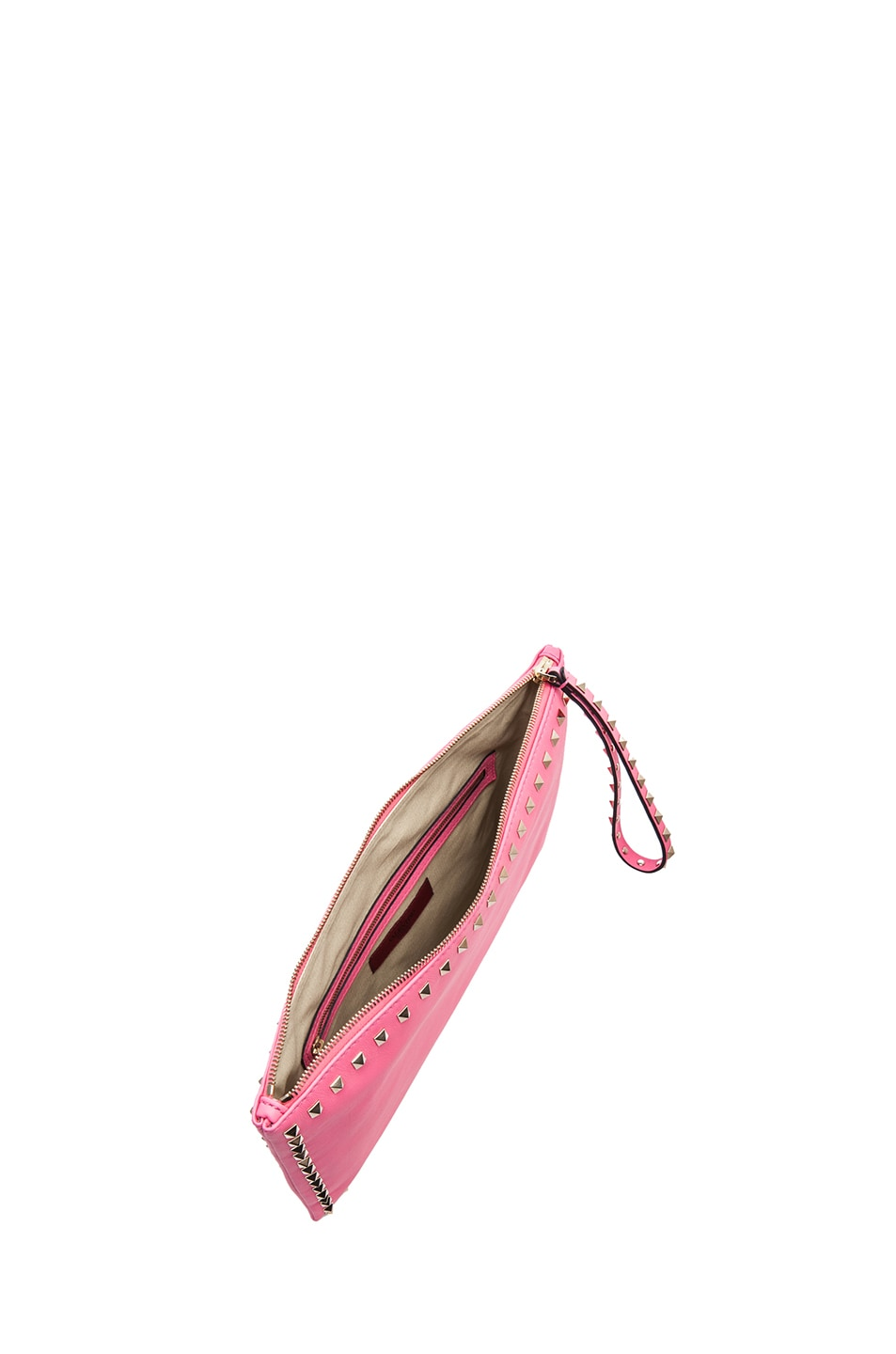 Image 4 of Valentino Small Rockstud Clutch in Fluo Pink