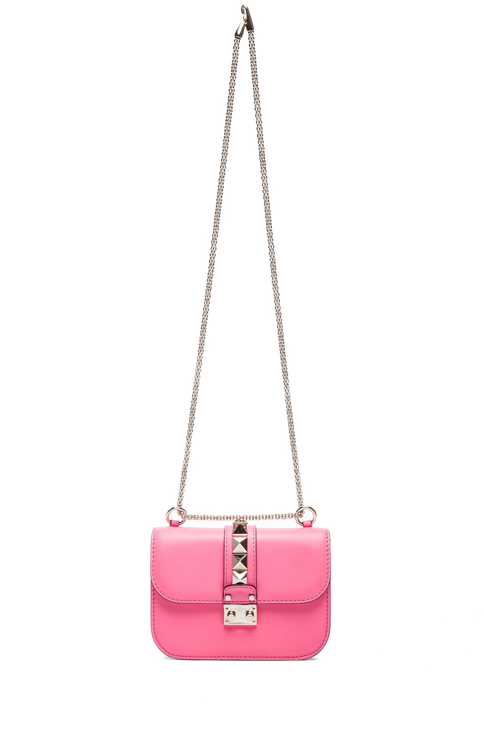 Image 6 of Valentino Small Lock Flap Bag in Fluo Pink