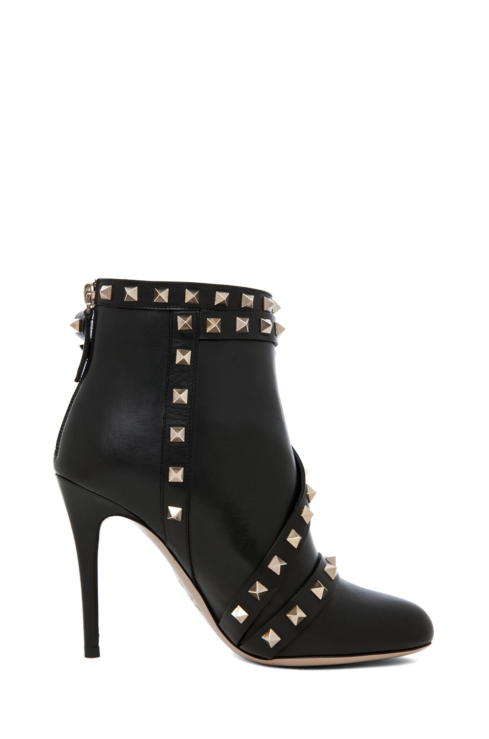 Image 5 of Valentino Rockstud Bootie with Bow in Black
